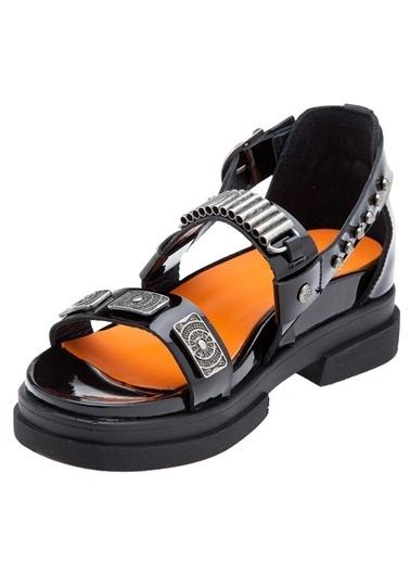 %100 Rugan Deri Sandalet-Harley Davidson